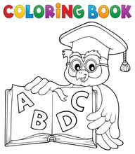 Coloring Book Owl Teacher Them...