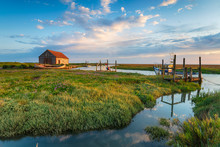 The Picturesque Old Harbour At Thornham In Norfolk