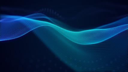 prekrasna apstraktna pozadina tehnologije valova s korporativnim konceptom digitalnog efekta plavog svjetla