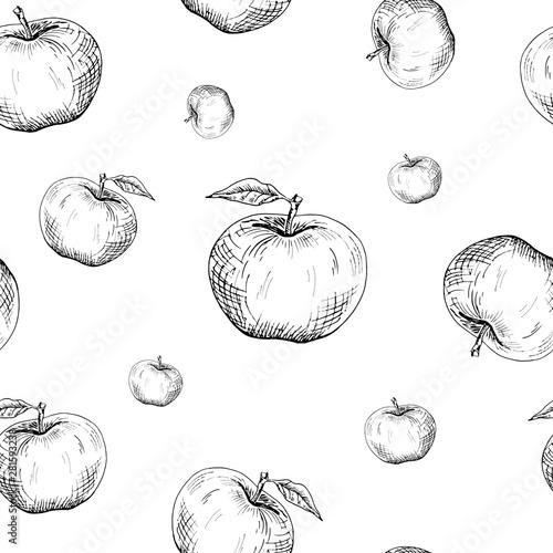Pinturas sobre lienzo  Apple background