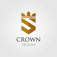 Vintage Crown Logo And Letter ...