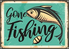 Gone Fishing Vintage Decorativ...