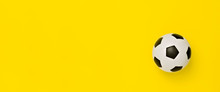 Soccer Ball Or Football On Yellow Background