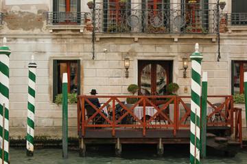 Fototapeta na wymiar Restaurante en Venecia