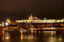 Prague Panorama Night Scene, P...