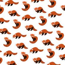 Cartoon Happy Red Panda - Simp...