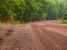 Red Dirt Road In Rural