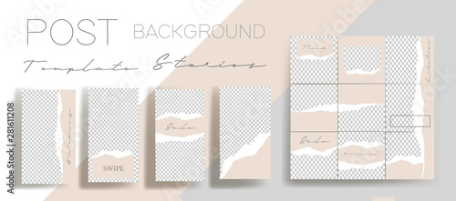 Design backgrounds for social media banner Fototapet