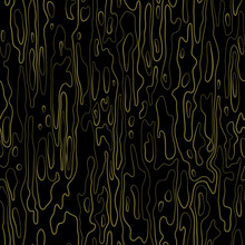 Abstract Seamless Vector Background Texture. Surface With Ripples. Golden, Isolated From Black Background