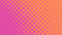 Magenta And Orange Retro Pop Art Background With Halftone Dots Design