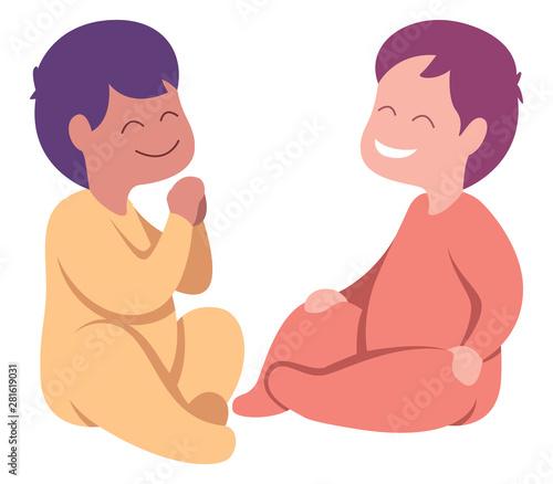 Fototapeta Babies on White obraz na płótnie