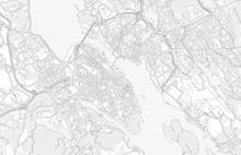 Halifax, Nova Scotia, Canada, Bright Outlined Vector Map