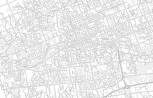 London, Ontario, Canada, Bright Outlined Vector Map