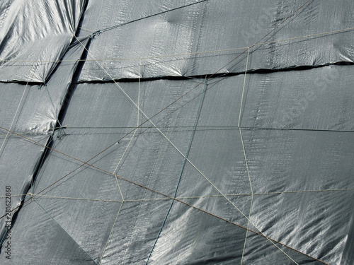 Photo sur Toile Les Textures canvas cover at construction site