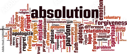 Absolution word cloud Canvas Print