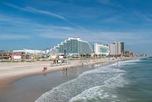 Daytona Beach, Florida. July 06, 2019 Panoramic View Of Hilton Ocean Front And Boardwalk On Daytona Beach 2