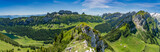 Switzerland, Appenzell, panorama view of Alpstein mountains