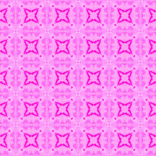 Pink Checked Allover Seamless Pattern. Hand Drawn