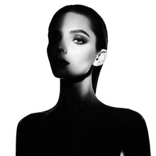 Surrealistic Young Lady With S...