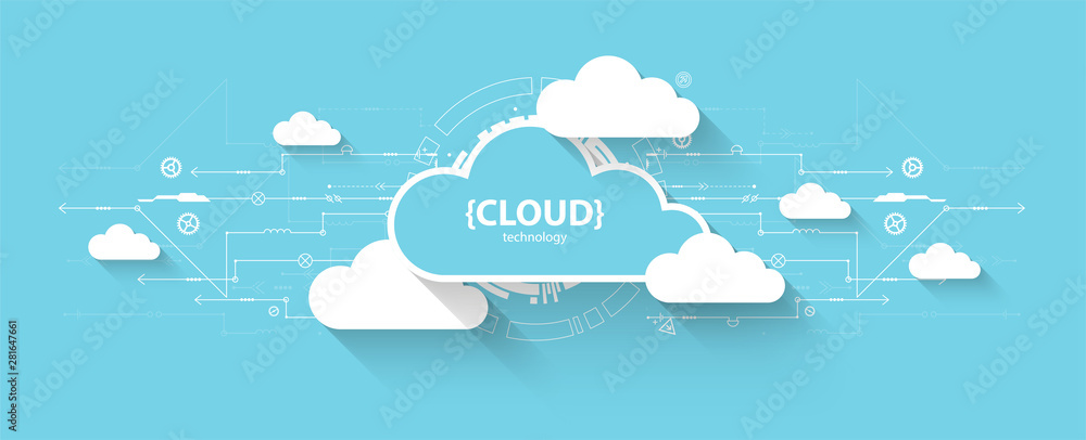 Fototapeta Web cloud technology, business abstract background.