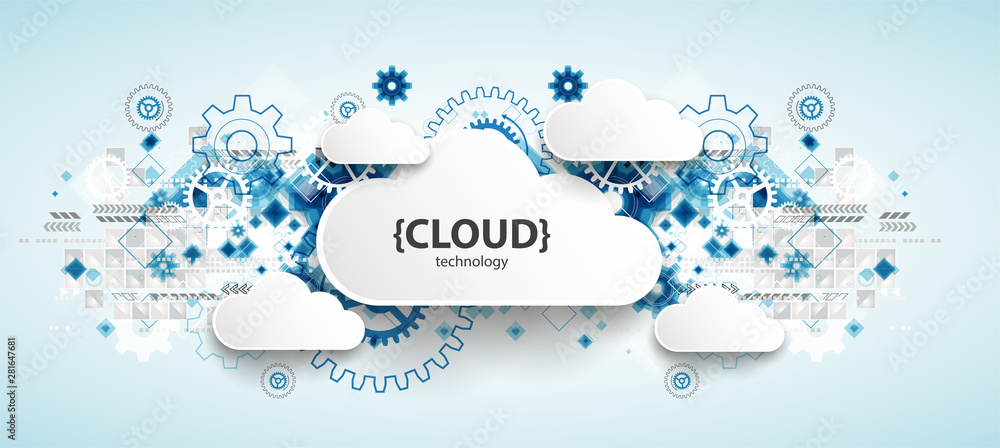 Obraz Web cloud technology, business abstract background. fototapeta, plakat