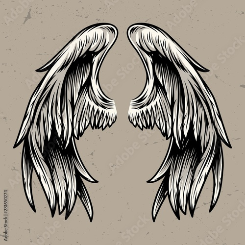 Foto  Two angel wings template