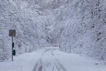 Road With Winter Road Conditi...