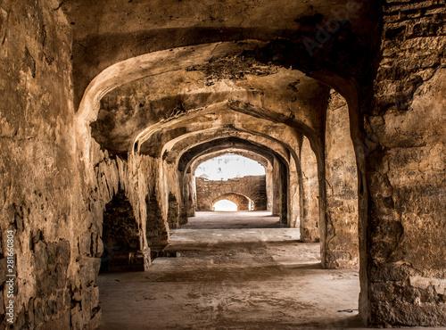 Fototapeta The Amazing landscape of the historic Golconda, Hyderabad, India