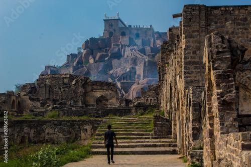 Obraz na plátně The Amazing landscape of the historic Golconda, Hyderabad, India