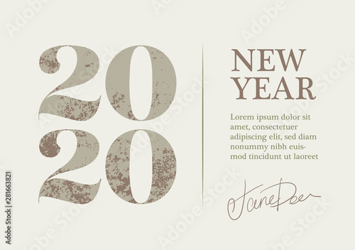 Fotografía  New Year 2020 Greeting Card Design