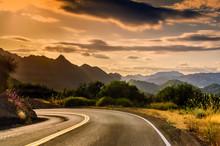 California Winding Highway Wit...