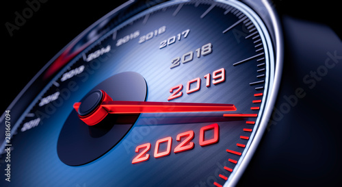 Photo  Tachometer 2019 auf 2020