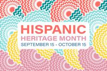 Hispanic Heritage Month September 15 - October 15. Background, Poster, Greeting Card, Banner Design.