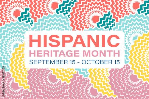 Fotografía  Hispanic Heritage Month September 15 - October 15