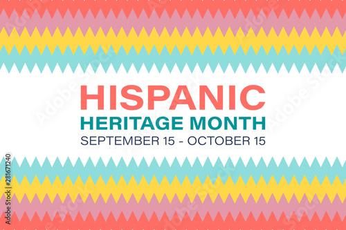 Hispanic Heritage Month September 15 - October 15 Wallpaper Mural