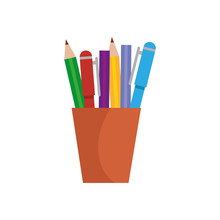 Pencils Holder Office Device Icon