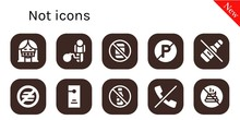 Not Icon Set