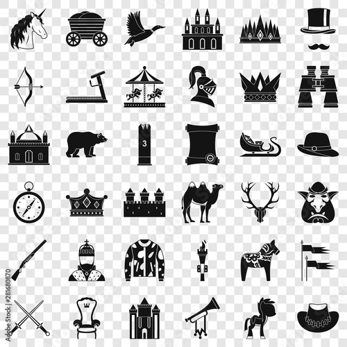 Cuadros en Lienzo Horsemanship icons set