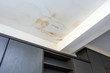 canvas print picture - Roof leakage, water dameged ceiling roof and stain on ceiling