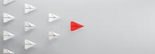 Paper Plane Leadership Concept...
