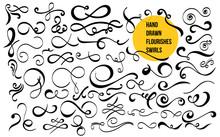 Set Of Hand Drawn Flourishes S...