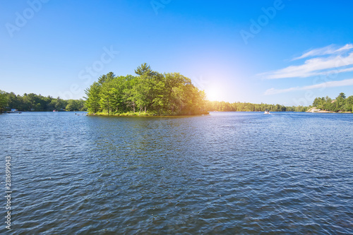 Port Severn, Six Mile Lake Provincial Park in Muskoka, Ontario Wallpaper Mural