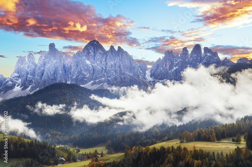Photo  Beautiful landscape of Dolomite Alps in Italy