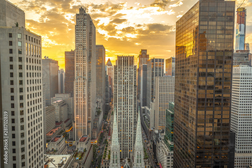 New York City Manhattan midtown buildings skyline Canvas Print