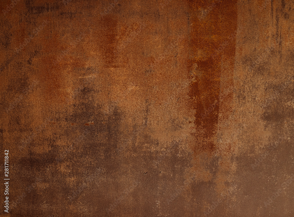 Fototapeta Abstract background, steel with rust and rough surface Suitable for use in the work, the graphic design, laying letters