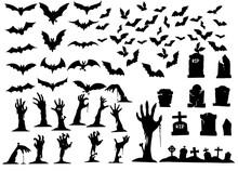 Collection Of Halloween Silhou...