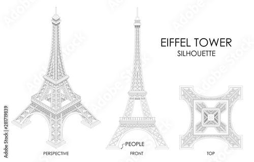 Obraz Eiffel Tower. Different design. - fototapety do salonu