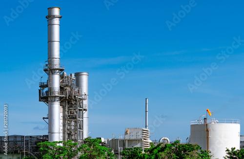 Fototapeta  Gas turbine electrical power plant