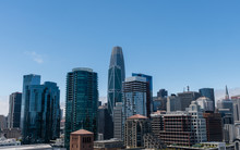 Beautiful View Of The San Francisco Downtown On A Clear Summer Day, Northern California