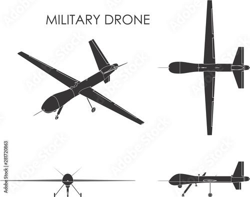 Military drone predator. Tablou Canvas